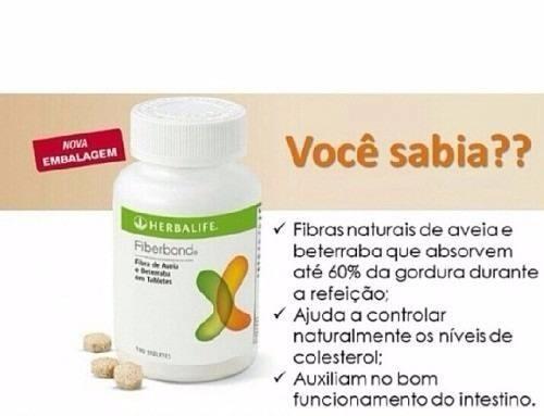 Fiberbond Herbalife Queima Gordura 100 Original R 68 99 Em