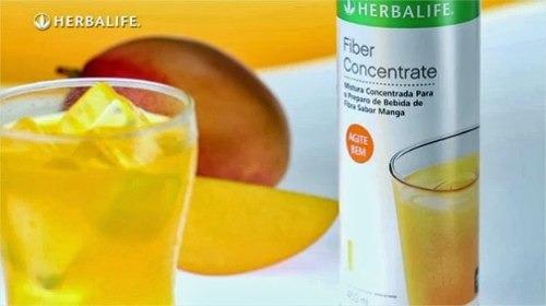 fiberconcentrate herbalife - sabor manga ou uva - 450 ml