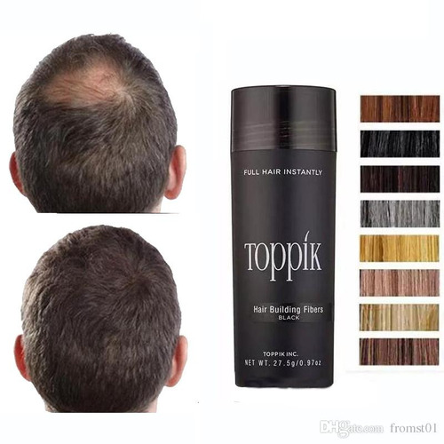 fibra capilar cabello toppik 27,5 gr color negro ydark brown