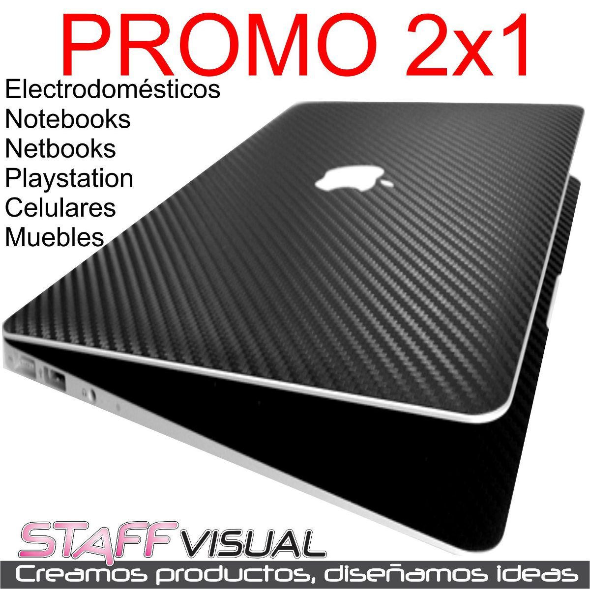 Skin Notebook Celu Fibra Carbono Lg Vinilo 50×50 Promo 2×1 195  # Muebles Fibra De Carbono