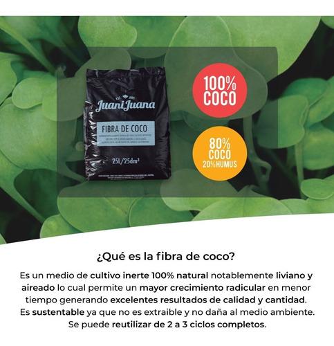fibra de coco 100% juanijuana sustrato profesional cultivo