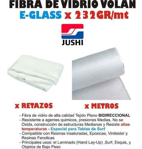 fibra de vidrio volan 232 100x50cm poliester tablas surf