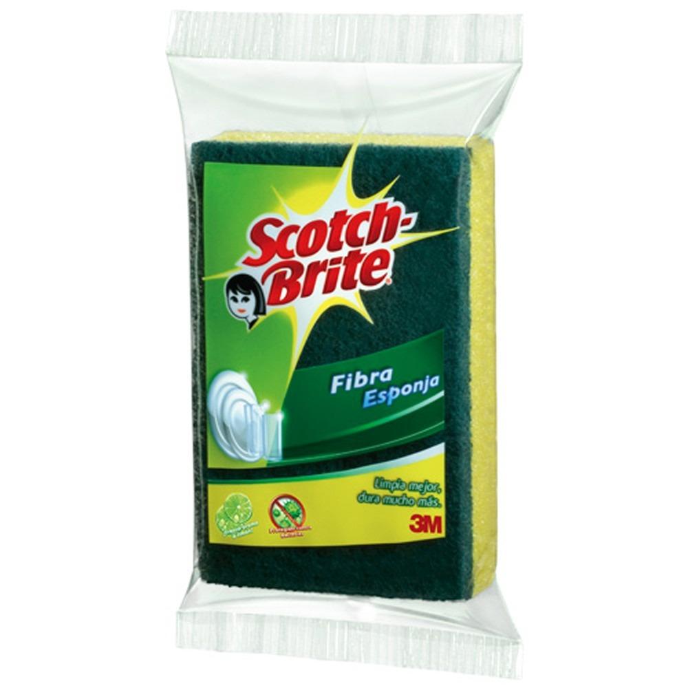 Fibra esponja limpieza trastes cocina grande scotch brite for Trastes de cocina
