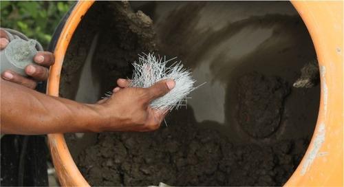 fibra sintética para concreto mallape - kg a $1260