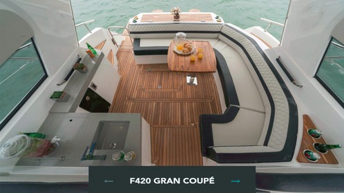 fibrafort 420 gran coupe - mejor barco salon san paulo