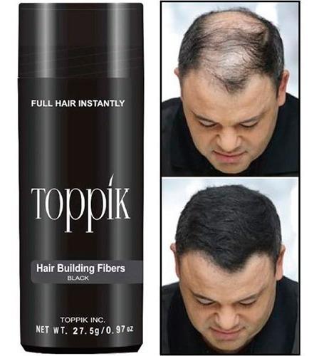 fibras capilares marca toppik 27,5 aparenta mas cabello pelo