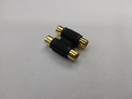 ficha adaptador 2 rca a 2 rca superfix ada070 conector