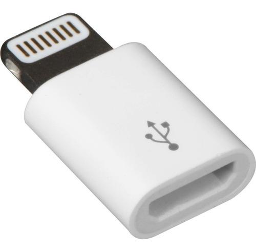 ficha adaptador micro usb a lightning para iphone  sabattini