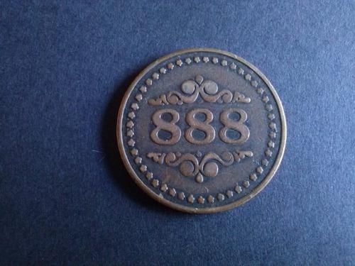 ficha casino cadillac metálica bronce (22a)