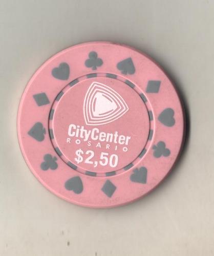 ficha casino rosario city center - valor 2,50$