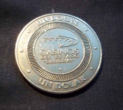 ficha casinos del uruguay- bronce- 1 dolar