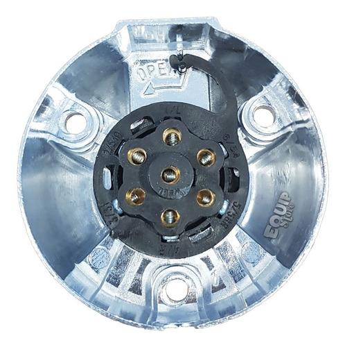 ficha conector trailer acoplado aluminio 7 vias macho hembra