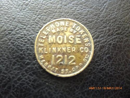 ficha de telefono  moises klinkner 1212  1900-1915 san f(d58