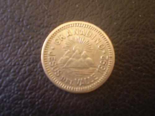 ficha granadino  jesus del valle 1892 10 centavos (52