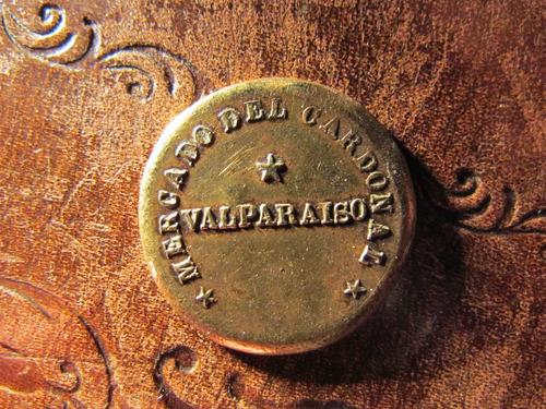 ficha mercado cardonal valparaiso vendedor ambulante bronce
