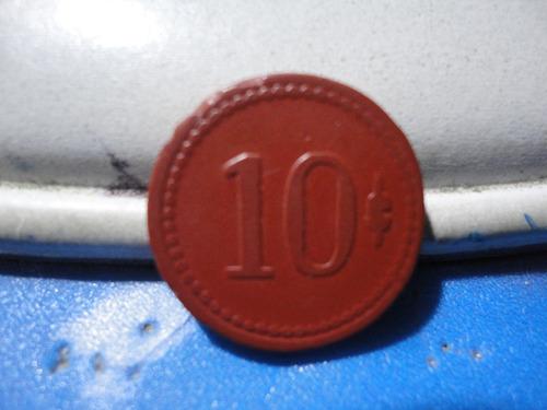 ficha no salitrera ferrocarril urbano iquique 10c.