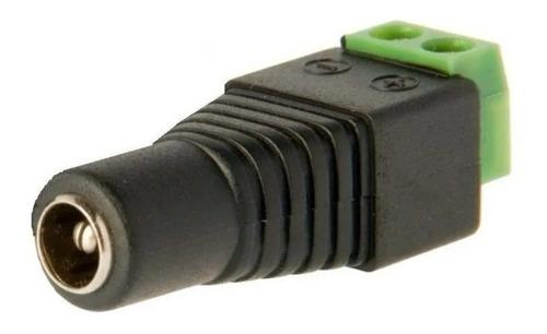 ficha plug alimentación bornera cámaras led (10 unidades)