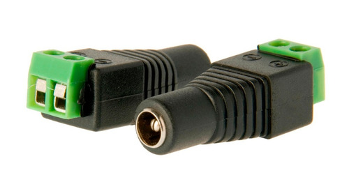ficha plug hembra dc 5.5 x 2.1mm con bornera pack 20 cctv