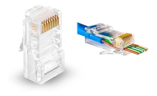 ficha redes rj45 8p8c cat6 doble contacto canalizada x10u.