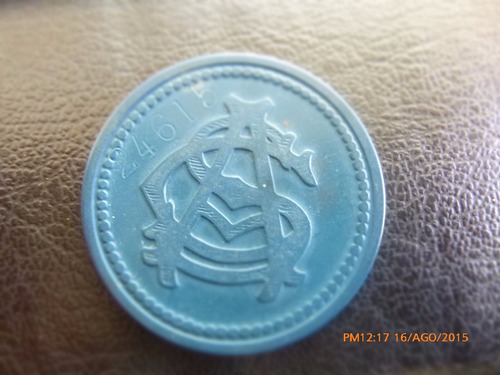 ficha salitrera 2 pesos oficina antofagasta azul azul (18