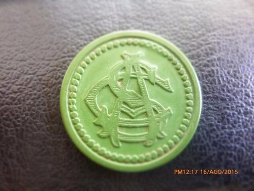 ficha salitrera 50 centavos oficina antofagasta verde ver(19