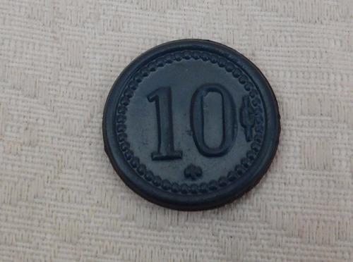ficha salitrera carmen bajo de 10 centavos