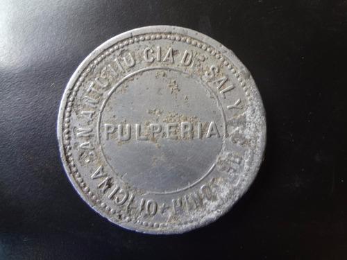 ficha salitrera oficina san antonio: 2 pesos