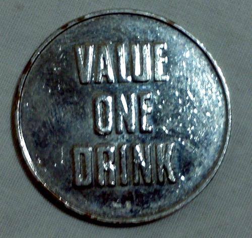 ficha sin valor comercial p/maquinas de refrescos coca cola