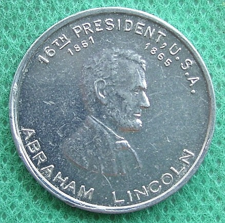 ficha token usa abraham lincoln