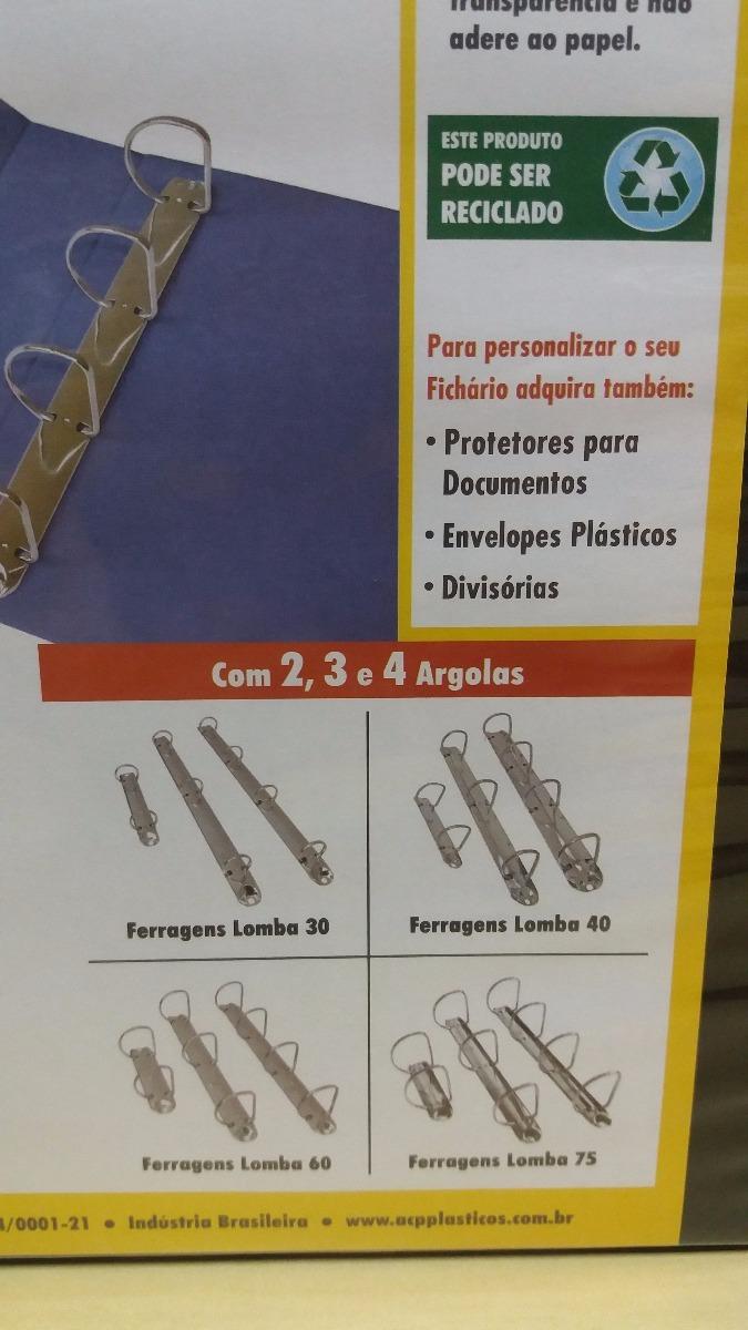 Fichario C revest Cristal A4 L 4cm   3 Argolas Preto - R  24,00 em ... fdf4e5839a