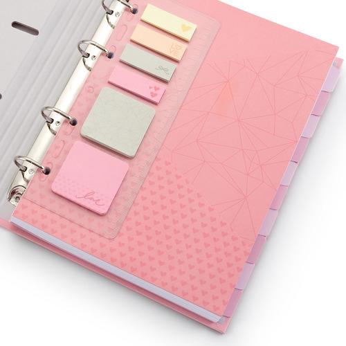 fichário pink love - pvc - pronta entrega - frete gratis