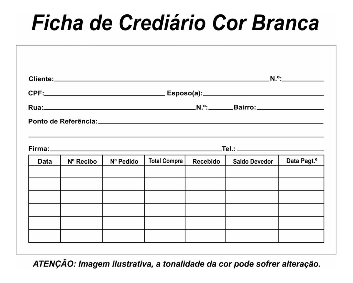 Fichas De Crediário Milheiro