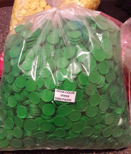 fichas escolares y de lotería medianas bolsa 5000 pzas.