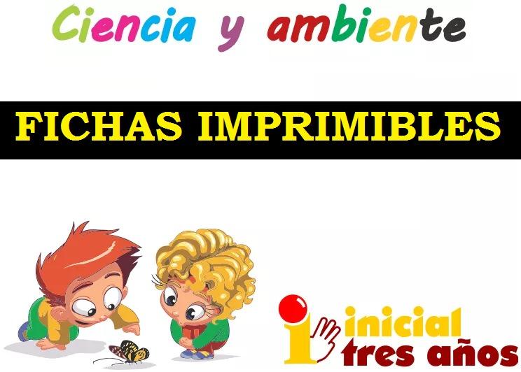 Fichas Imprimibles Ciencia Y Ambiente Para Niños De 3 Años - $ 199 ...