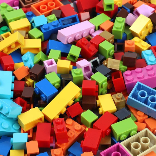fichas ladrillos compatibles con todas las marcas 500 piezas