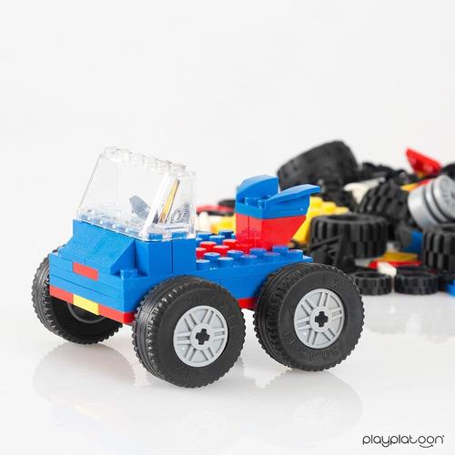 fichas ladrillos de construcción,ruedas,neumáticos y ejes 50