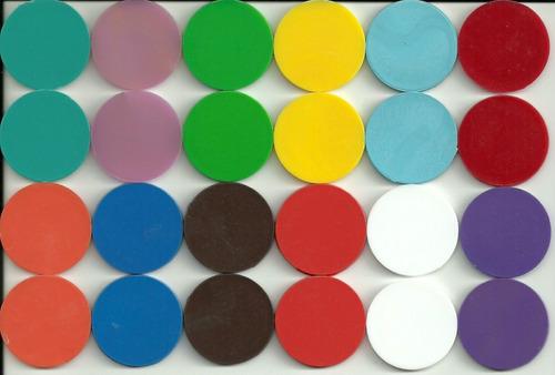 fichas magneticas varios colores
