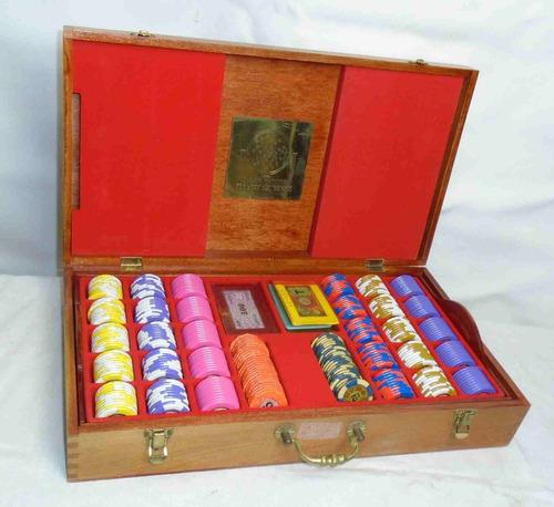 fichas originales casinos caja lujo antigua doble bandeja