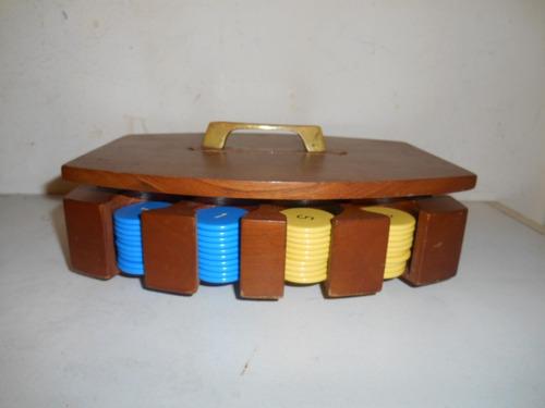 fichas para jugar poker, estuche con 144 piezas de baquelita