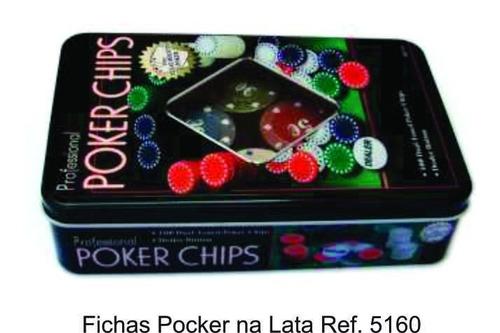 fichas poker na lata