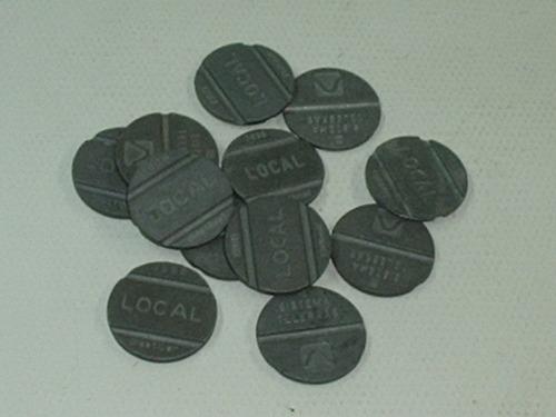 fichas telefonicas lote c/16 fichas de vários estados