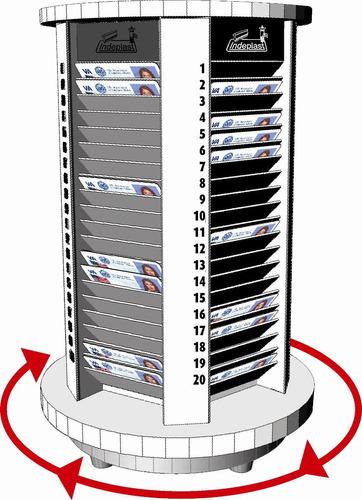 fichero giratorio en acrílico 100 casillas