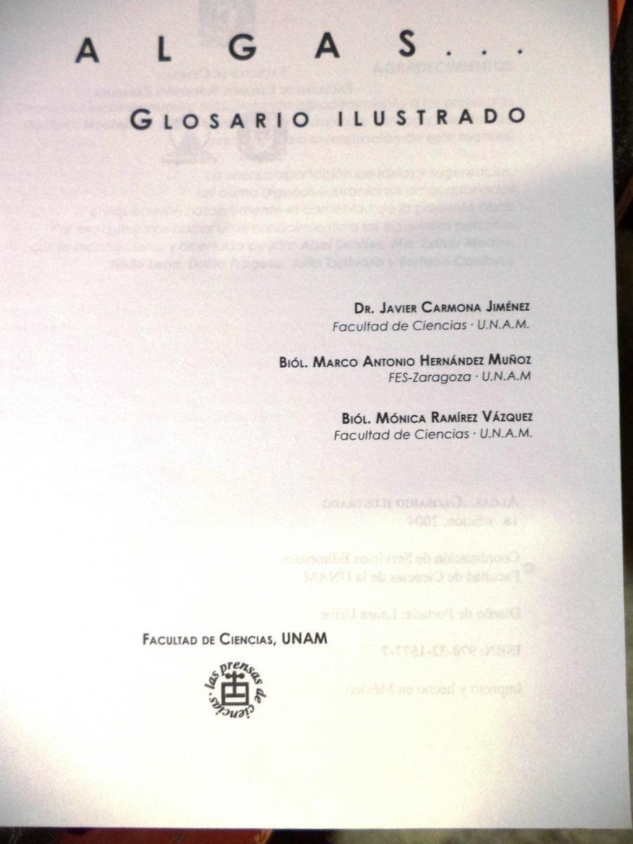 Ficología Glosario Ilustrado. Algas Diccionario - $ 250.00 en ...