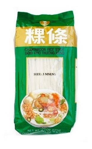 fideos de arroz, rice stick chantaboon 3mm 375g