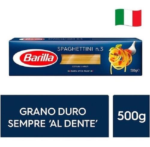 fideos italianos pasta barilla spaghettini 500g env gra caba