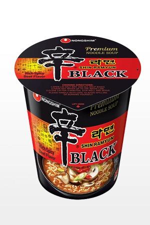 fideos ramen coreanos black shinramyun | big cup premium edi