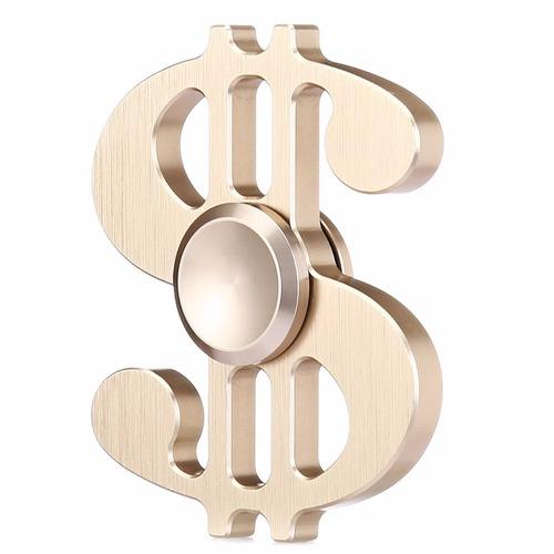 fidge spinner de metal en forma de dólar, antiestres, origin