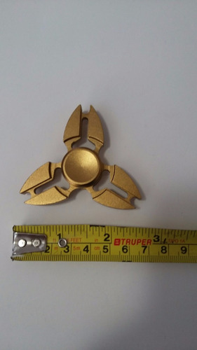 fidger spinner de aluminio oro mate