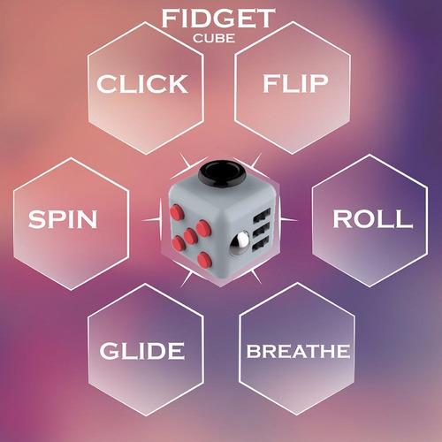 fidget cube cubo anti estres alivia el estrés la ansiedad