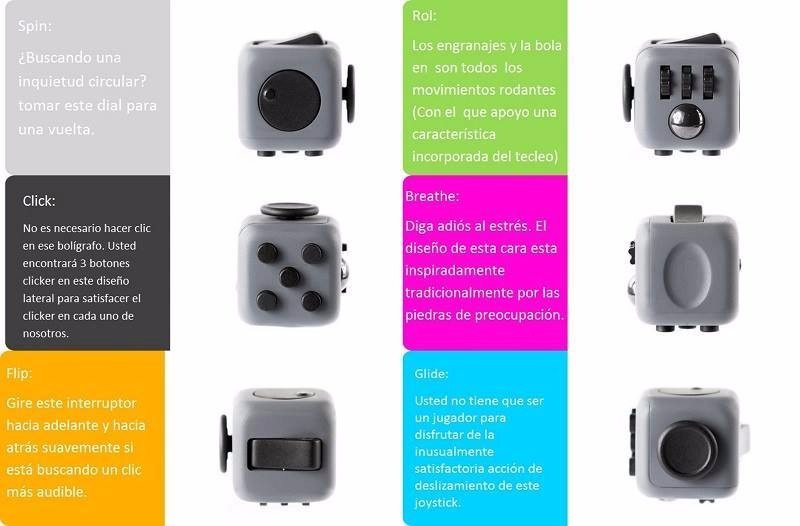 fidget cube original antiestr s ansiedad entretenimiento. Black Bedroom Furniture Sets. Home Design Ideas